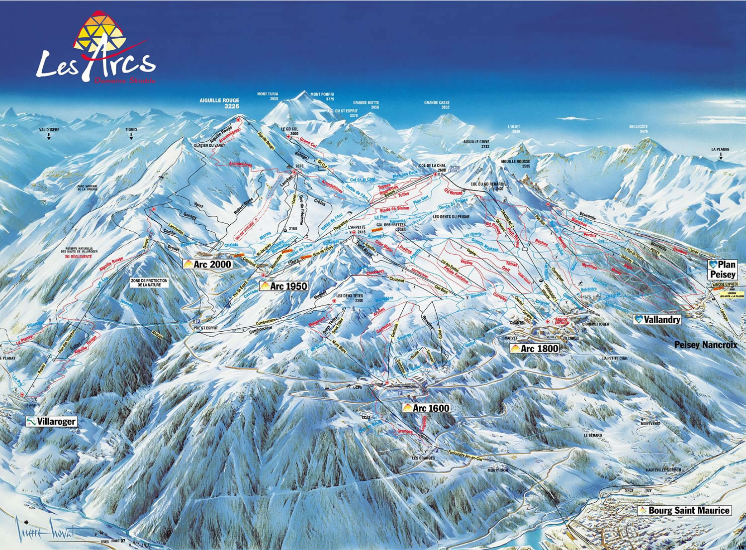 plan de la station grand bornand
